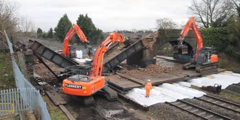 Rail Bridges Demolished in Preparation for Crossrail Trains