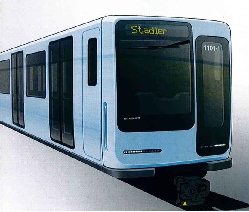 Stadler presents mock-up of Berlin underground train at UITP in Geneva