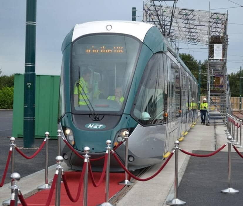 Alstom Unveils the UKs First Citadis Tram in Nottingham