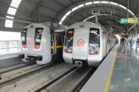 Passenger Trains at Delhi metro