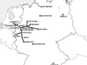 Map of the Rhine-Ruhr express (RRX) rail network