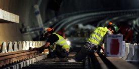 Engineers working on Cairo Metro Tracks