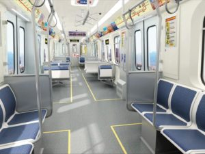 Interior of CTA rail cars from CSR Sifang America