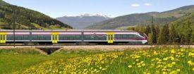 Alstom Coradia in italian countryside.