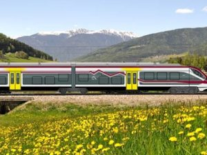 Alstom Coradia in italian countryside.