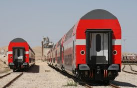 Bombardier Double Decker trains operating in Israel