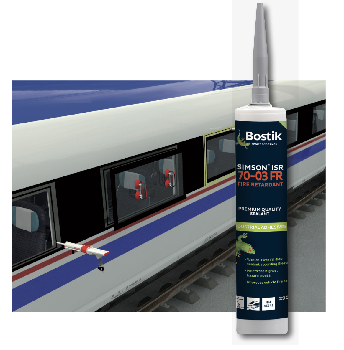 SIMSON ISR 70-03, the world's first fire retardant SMP sealant
