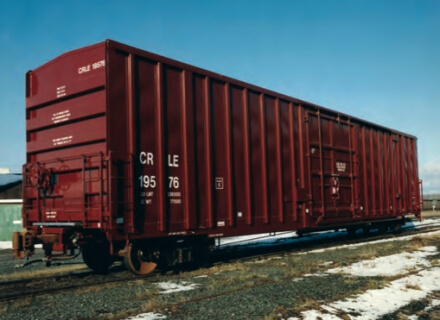 The Greenbrier 60' Heavy Duty Plate C Boxcar