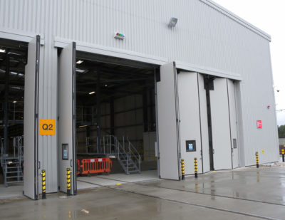 UK: Jewers Delivered Hitachi Factory Doors
