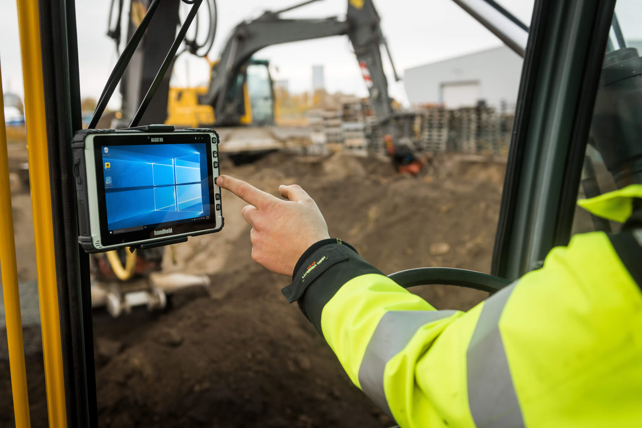 Infrastructure Work with the Handheld Algiz 8X Rugged Tablet