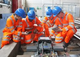Network Rail Apprentices in training