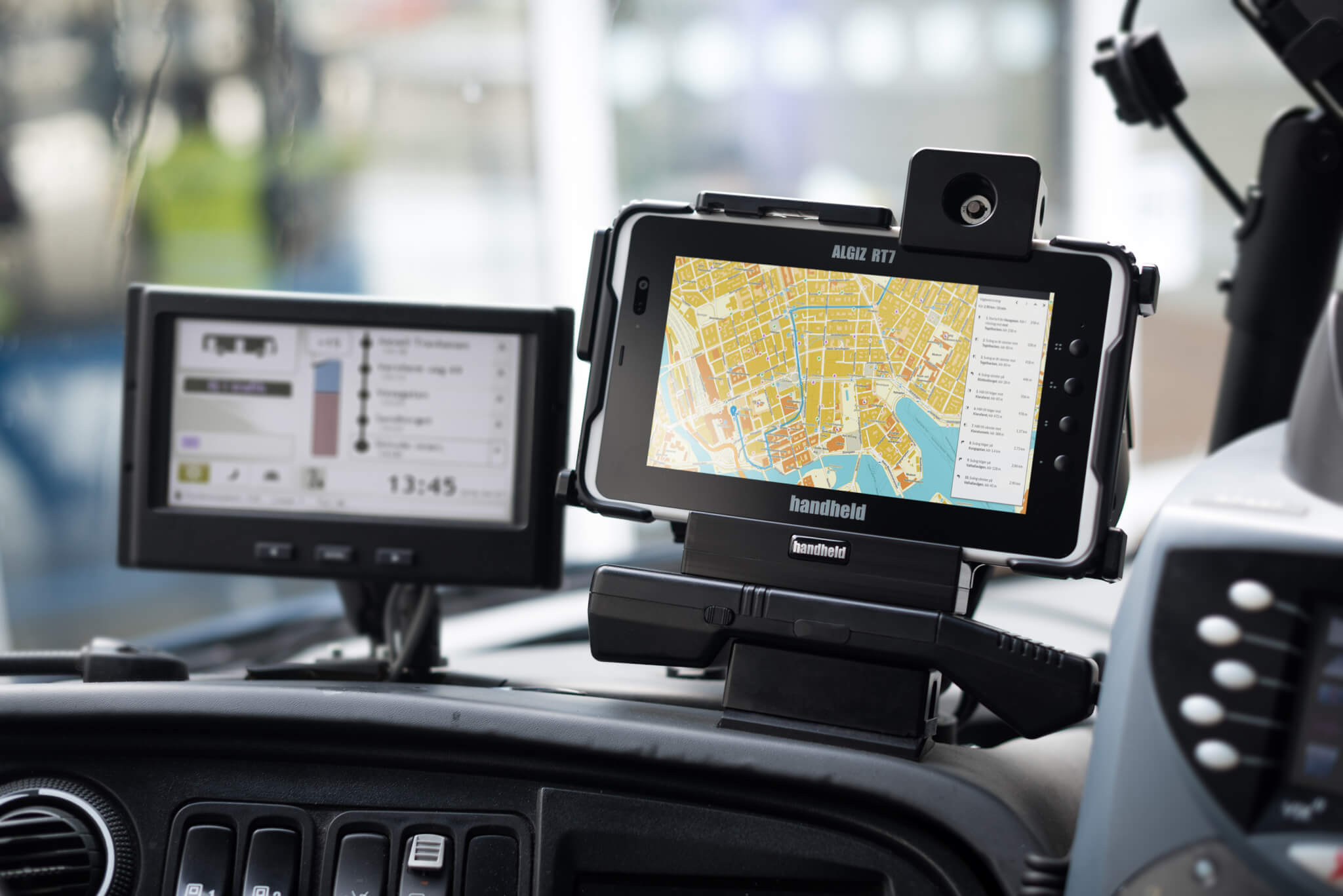 Route Navigation with the Handheld Algiz RT7 Android Tablet