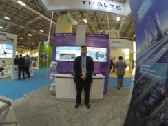 Thales ticketing system on display at conference.