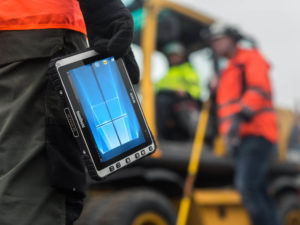 Railway maintenance with rugged tablets
