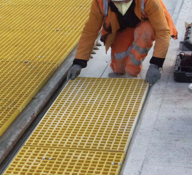 TrackPan system designed to protect the environment from contamination caused by spillage and leaks on the rail network.