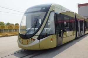 Bombardier Partner CSR Puzhen Presents First Low-Floor Tram for China