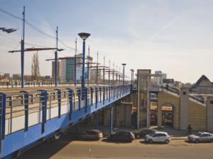 The over-line bridge in Poznań