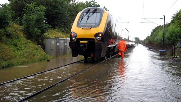 Torrential Rain Causes Havoc to Rail Services Across the North