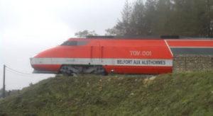 Alstom TGV 001 prior to restoration