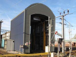 Alstom Trainscanner at the Oxley Depot uk
