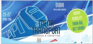 MENA Transport Congress and Exhibition 2016 Comes to Dubai