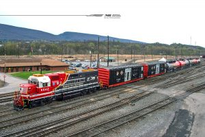 Norfolk Southern safety train sporting insignia of first responders