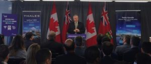 Thales Canada and Ontario Partnership Announced