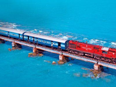 Toshiba India on bridge over water