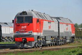2TE25Km model Bryansk freight diesel locomotive