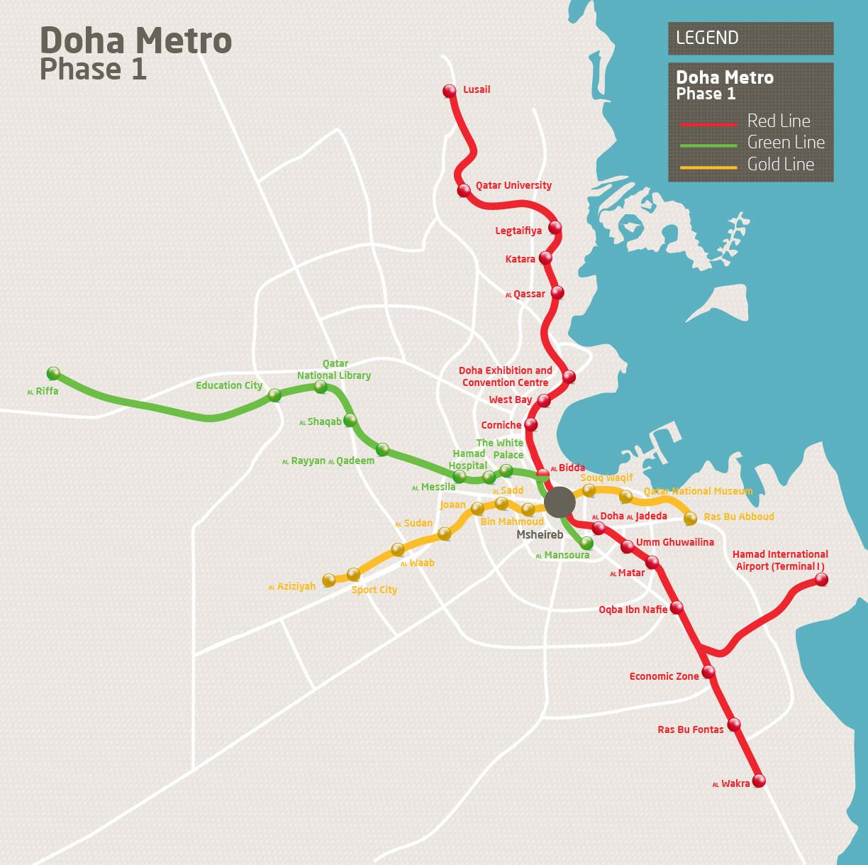 Doha Metro map