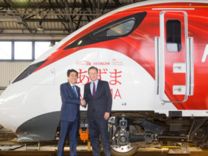 Abe and Cameron Visit Hitachi Rail