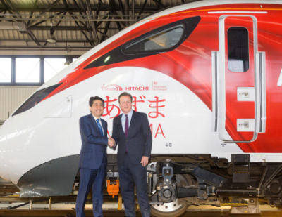 Japanese PM and Cameron Visit Hitachi Rail Site