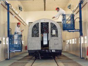 Wall-Man ® Train Painting – United Kingdom