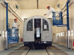 Wall-Man ® Train Painting - United Kingdom