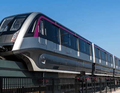 First Chinese Straddle Monorail Successful Test