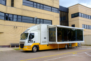 Parker Hannifin's exhibition vehicle visits the iPro Stadium
