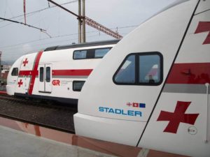 Stadler KISS Double Decked Trains Presented in Georgia