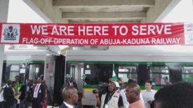 Opening of Abuja-Kaduna Railway in Nigeria