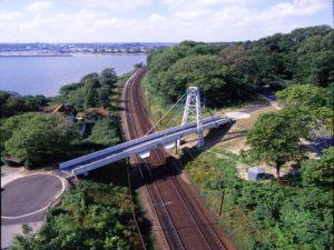 Fiberline Composites GRP Foot Bridge, Installed in 3 Nights
