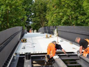 Fiberline Composites' FBD 300 Bridge Deck was easily installed