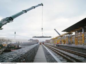 Lindevang Station Roof from Fiberline Composites