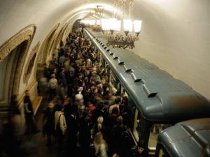 Crowd Metro Moscow