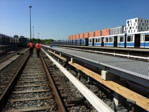 Railway GRP Gratings in Berlin by Fiberline Composites