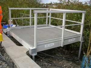 Platforms from Fiberline Composites are Easy and Fast to Install