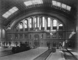 Interior of Anhalter Station at its inauguration in 1880