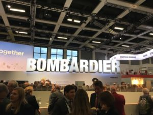 Bombardier's stand at InnoTrans 2016