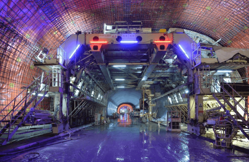 Hin Keng to Ma Chai Hang Tunnel Works Site © MTR