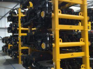 Mechan bogie stacking frames