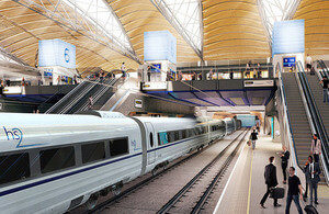 Proposed HS2 Euston Station © DfT