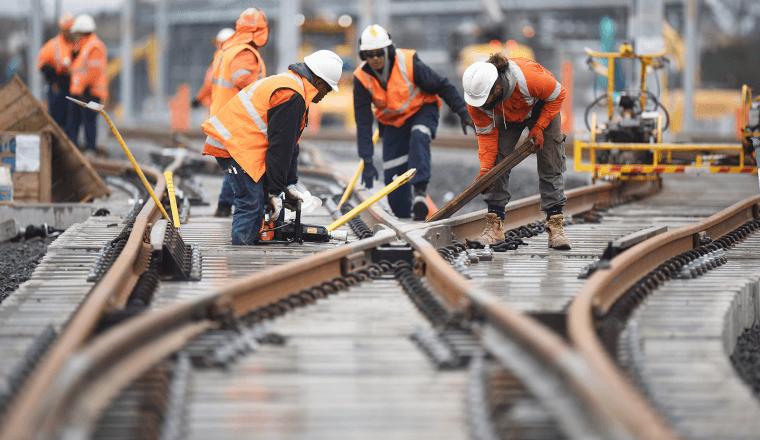 Sydney Metro Track Laying
